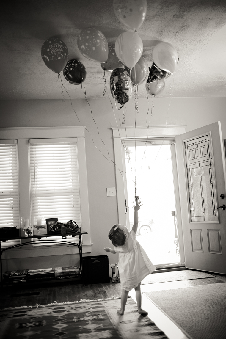 Baby with balloons, Nashville baby photographer, portrait photographer, magical