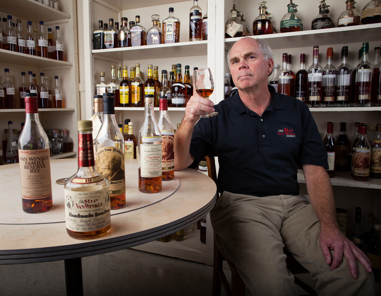Julian Van Winkle - Pappy Van Winkle - Kentucky Bourbon Trail, Nashville portrait editorial beverage advertising photographer, Kristina Krug